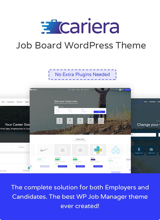 Cariera - Job Board WordPress Theme - 3